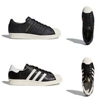 New Adidas Originals Superstar 80s Men Black White Fashion Shoes Sneakers NIB