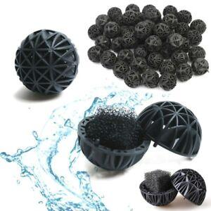 "Aquarium Bio Balls 1"" Dia. FREE Mesh Bag Filter Media Wet/Dry Koi Fish Pond Reef"
