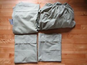 4 Pc Queen Size Sheet Set from Tranquil Nights in Soft Sage Green Excellent Cond
