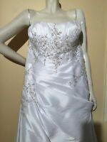 SALE!!! 90% Wedding dress XL Embroidered Beaded Luxury Silk Satine size 20