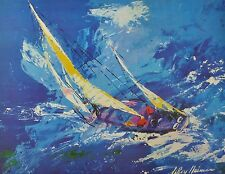 "LeRoy Neiman ""Blue Sailing"" Signed vintage print 1978 30 x 24"
