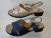 Happy Slipper Damen Schuhe Stiefel Regen Gummi Blau Anker