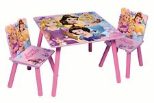Disney Princess Kids Wooden Playroom And Bedroom Table And Chairs Furniture Set