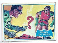 1966 Topps Batman Blue Bat with Bat Cowl Back (4B) Branded Boy Wonder