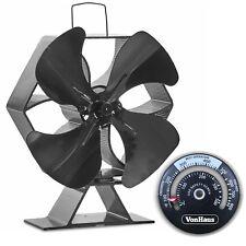 VonHaus XL 4 Blade Stove Fan - Thermoelectric/Eco-Friendly/Economical