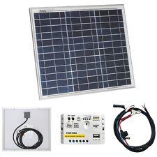 Kit de panel solar de 30W/12V Cargador De Batería Para AUTOCARAVANA, CAMPER, caravana o barco
