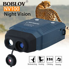 2X Night Vision Monocular Blue-Infrared Illuminator Allows Viewing in The Dark