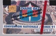 TELECARTE 50 UNITES PRIVEES PUBLIQUES  EN 100 CHAINE GAZ/GDF Nîmes 91 NSB