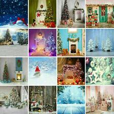 Christmas Xmas Photography Backdrop Photo Vinyl Retro Studio Background Porps