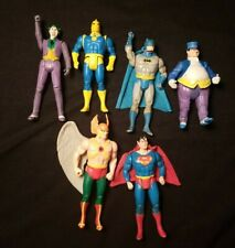 6 - 1984 DC Comics Super Powers Action Figures Superman, Batman, Joker, Penguin