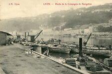 Carte LYON Docks de la Compagnie de Navigation La Péniche FLORE