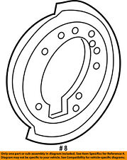 FORD OEM Rear Brake-Backing Plate Splash Dust Shield 6L2Z2C028AA