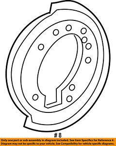FORD OEM Rear Brake-Backing Plate Splash Dust Shield 1L2Z2C029AB