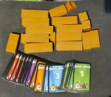 ANGRY BIRDS KNOCK ON WOOD game replacement 17 SQUARES GIRDERS TRIANGLES 54 CARDS