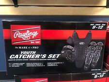 brand new rawlings youth catcher black set age 9-12