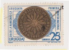 (UGA-39) 1971 Uruguay 25p state bank