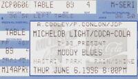 THE MOODY BLUES 1996 TOUR CHASTAIN PARK / ATLANTA, GA. CONCERT TICKET STUB