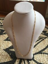 Vintage 80s Gold Mesh Thin Link Necklace Chain Gold Plated