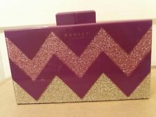 RADLEY UPPER STREET BERRY COLOUR CLUTCH/SHOULDER BAG WITH DEFECT & GIFT BOX