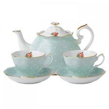 Royal Albert POLKA ROSE Tea For Two Teapot 2 Cups & Saucers Tea Set - NEW / BOX!