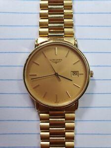 Longines Gold Plated Presence Quartz Watch