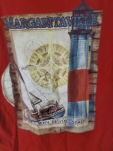 Jimmy Buffet's Margaritaville Wish I Were Sailing Again T-Shirt Size M