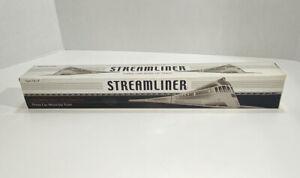 Schylling Streamliner Chrome Plated Tin Three Car Wind-Up Train Classic Tin