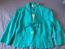 COUNTRY CASUALS CC Ladies Waterfall Jacket Turquoise SIZE 12 EU 38 RRP £109