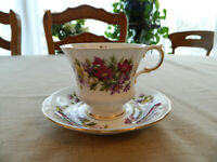 Paragon Fine Bone China Flower Festival Teacup & Saucer                      1-2