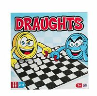 Traditional Classic Draught Board Game Kid Children Adult Family Fun Play Game