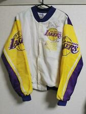 Vtg NBA Los Angeles Lakers Magic Johnson Chalk Line Jacket Size L Made In USA