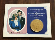 1981 LADY DIANA & CHARLES COMMEMORATIVE GOLD COIN BRITISH ROYAL MINT