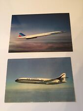 Air France Collectible Serious Collectors Only Two Air France Airplane Postcards