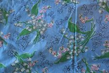 Vintage 40s Era Cotton Fabric Lily of the Valley Print Quilt Dress Material