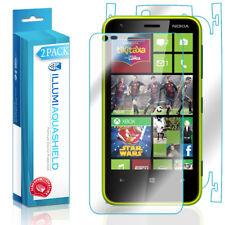 2x iLLumi AquaShield HD Front Screen + Back Panel Protector for Nokia Lumia 620