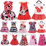 Toddler Kids Girls Cartoon Minnie Mouse Party Dress Sleeveless Midi Skirt Top D
