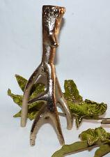 Light Gold Deer / Stag Antler Candlestick. Pagan/ Wiccan/ Yule / Altar/Cernunnos