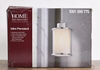 Home Decorators Collection 1-Light Brushed Nickel Mini-Pendant
