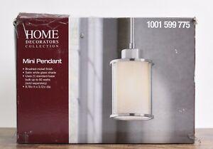 Home Decorators Collection 1-Light Brushed Nickel Mini-Pendant