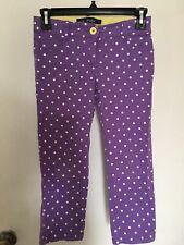 Euc Girls Mini Boden Purple Polka Dot Capris Sz11 Yrs