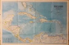 Map of West INDIES 1981 58 x 86 cm NG11