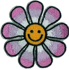 Simley Flower Smile Face Cartoon Appliques Embroidered Iron on Patch