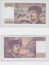 GERTBROLEN  20 FRANCS ( DEBUSSY ) de 1980  L.002 Billet N°  0035663944