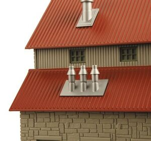 2013 MTH 30-90188 Gray Stone Grainery  w/Red Oxide Roof new in box