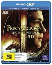 Percy Jackson - Sea Of Monsters (3D Blu-ray, 2014) Ex rental 3D