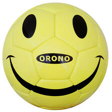 YELLOW SMILE HAPPY FACE SOCCER BALL  SIZE 4 Football