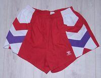 Vintage Hummel mens sport handball red shorts Size XL 90's Denmark