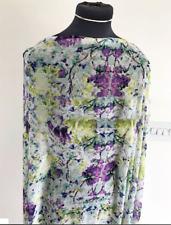Dressmaking Fabric Woodland Flower & Flora Vintage Style Washed Chiffon 1.6mts