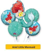 "ARIEL LITTLE MERMAID BALLOONS (SuperShape/Kids/Birthday/Party/Foil/18""/Latex)"