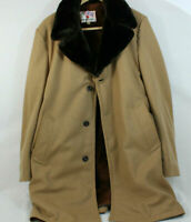 Vintage Field and Stream Gordon and Ferguson Wool Tweed Faux Fur Jacket 42 Long
